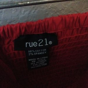 Red Rue 21 dress